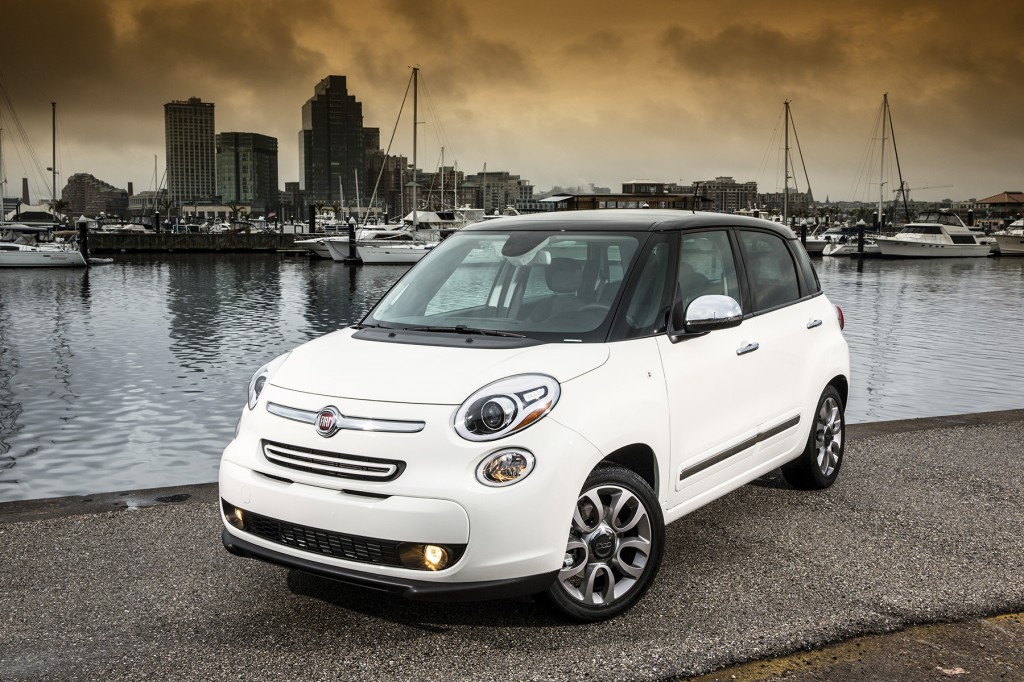The Fiat 500L shares its cute face with the compact 500, but it's a dramatically bigger, more practical vehicle.