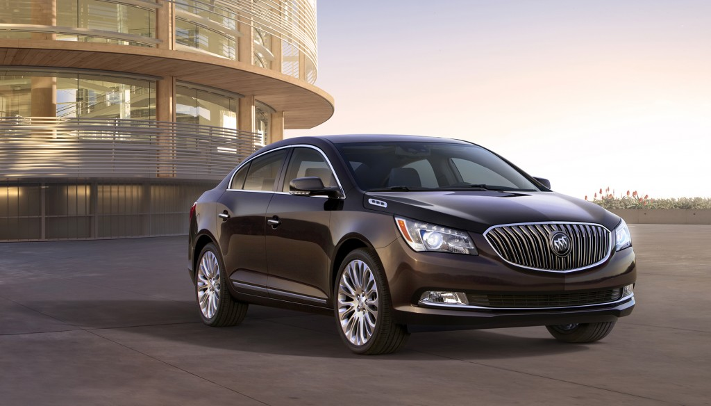 New LED accent lighting around the headlights gives the 2014 LaCrosse a sleek, contemporary vibe to go with its classic Buick styling cues.
