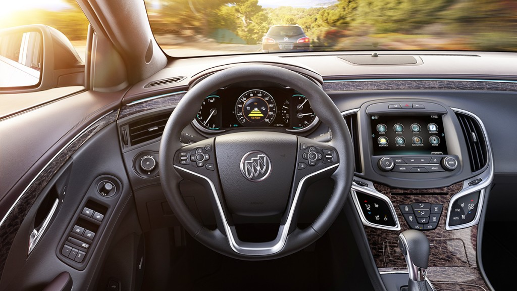 A new Ultra Luxury Interior package is offered for 2014, adding gorgeous ash wood trim to go with the LaCrosse's advanced cabin and safety technology.