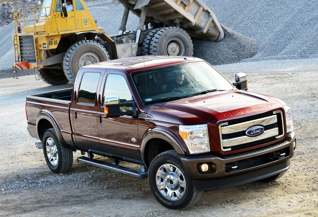 The 2015 Ford F-250 Super Duty is a heavy-duty truck designed for tough jobs. Ford says it offers best-in-class towing with a gooseneck trailer at 31,200 pounds.