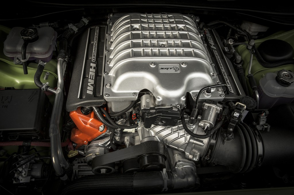 Dodge's SRT engineers added a supercharger to the 6.2-liter HEMI engine to boost its output, making it even more powerful than the Viper.