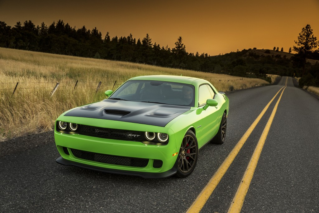 The 2015 Dodge Challenger Hellcat is the most powerful muscle car ever produced, with 707 horsepower from its V8 engine.
