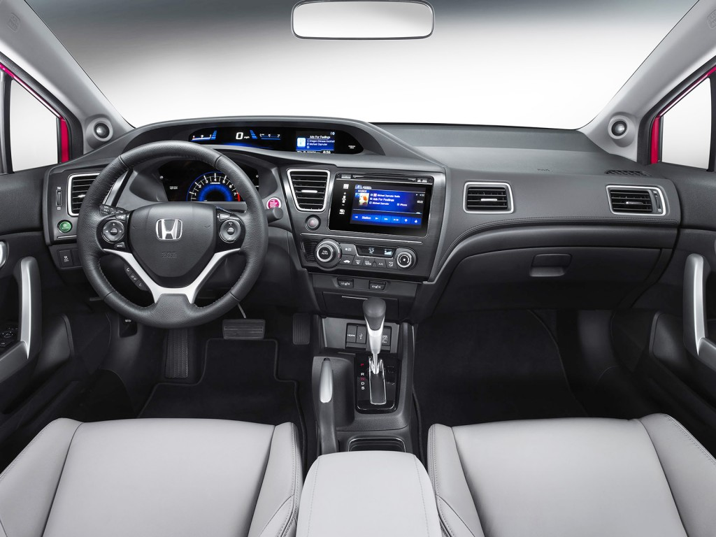 The Civic's cabin is improved this year to make it feel more solid and upscale than before. Extensive use of soft-touch materials keep it a top competitor among compact cars.