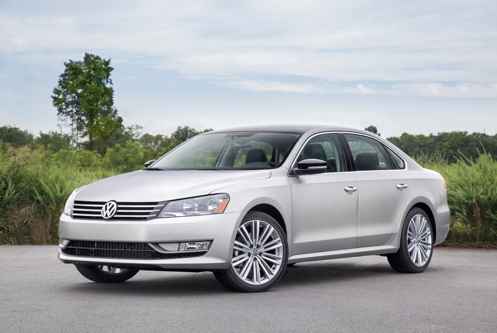 New to the Passat lineup in 2014 is the Sport model, shown here, which has athletic styling touches both inside and out. It also comes with paddle shifters behind the steering wheel.