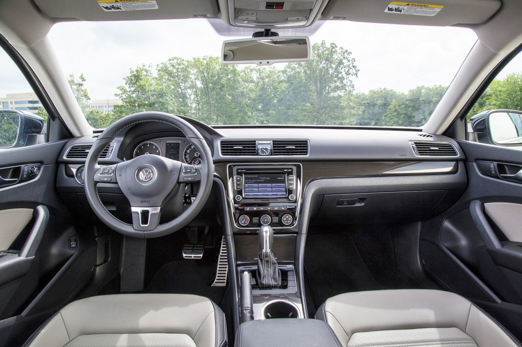 The Passat Sport's interior uses aluminum, steel and carbon accent trim to evoke a more youthful vibe.
