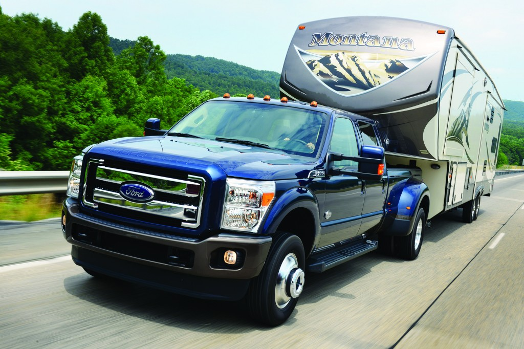 The Ford F-350 is available with a more powerful diesel engine and an upgraded King Ranch trim package for 2015.