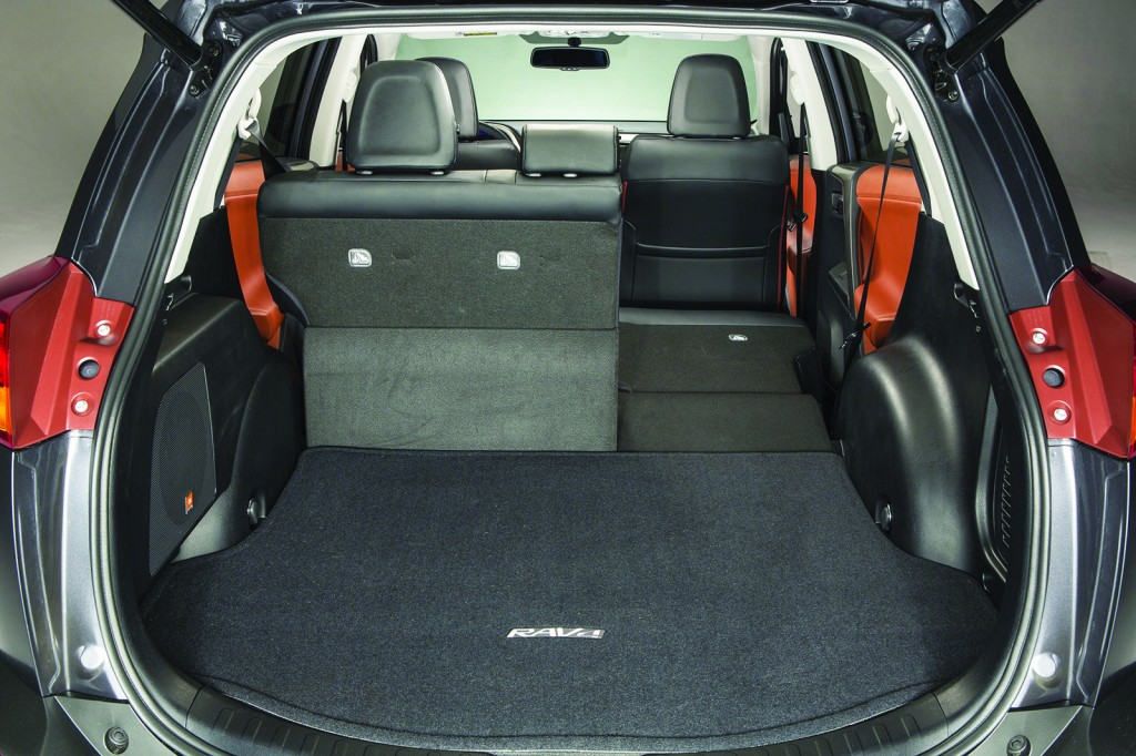 A large, flexible cargo area is the RAV4's best feature. It feels more spacious than many of its competitors, offering SUV-like versatility in a compact package.