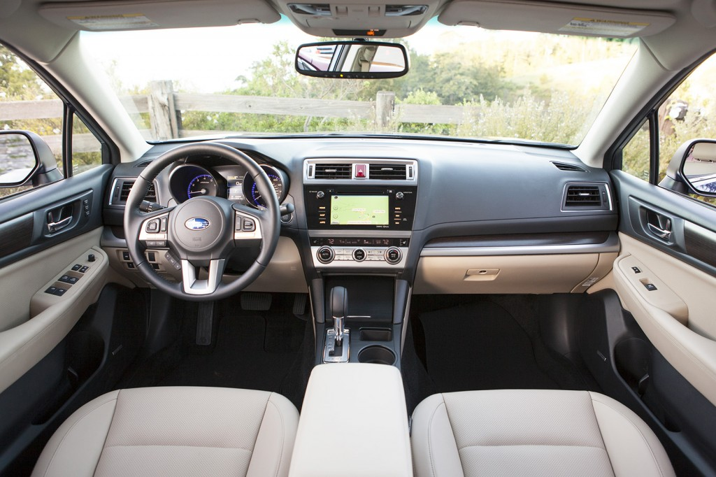 Tight-fitting switches and soft materials mean the new Legacy's cabin still has a premium feel. Subaru says it's the roomiest cabin of any mid-size car.