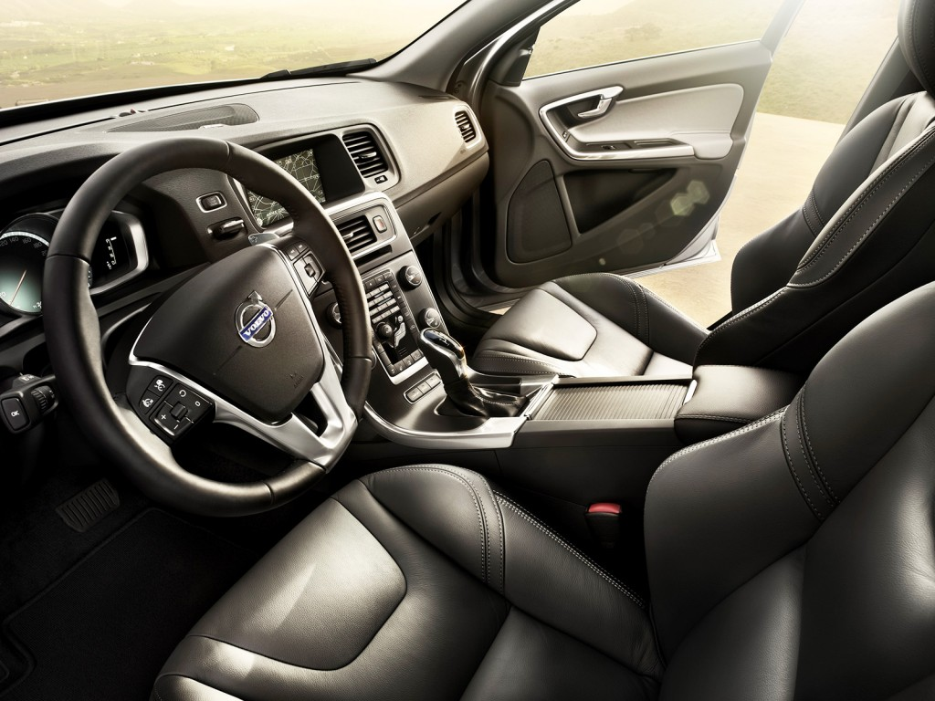 The S60's cabin has a cool, Swedish vibe with an unusual layout for the center controls.