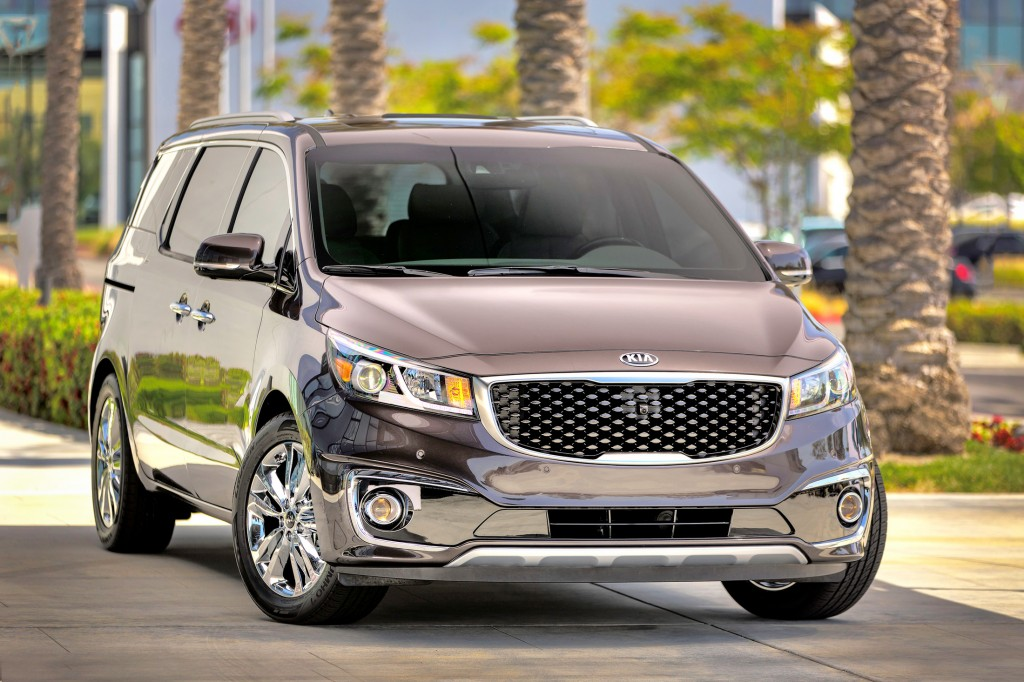 The Kia Sedona gets a new design for 2015 that makes it look more like a crossover vehicle.