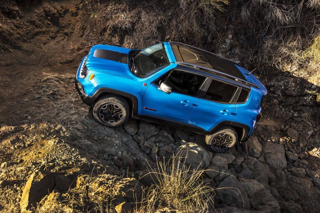 The Renegade is the new, small Jeep with some serious off-road chops — at least on the beefed-up Trailhawk version, shown here.
