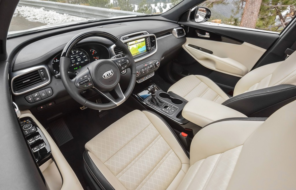 The 2016 Sorento's cabin has more soft-touch materials and precise construction.