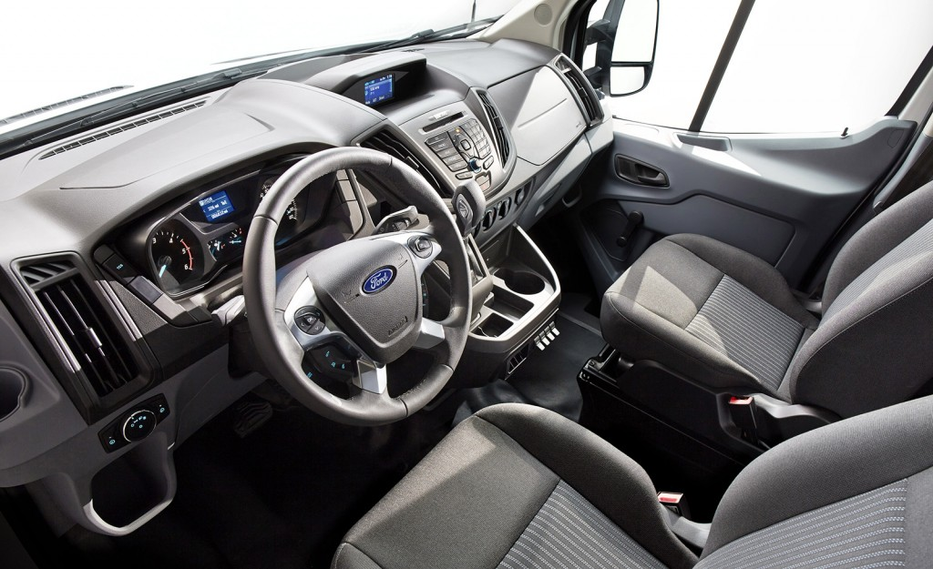 The Transit's interior is functional and thoughtful, with good visibility and plenty of storage spaces for tools and paperwork.