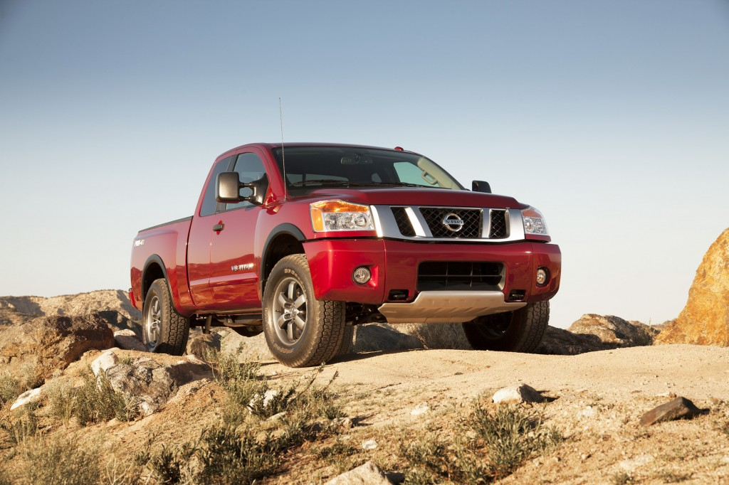 The 2015 Nissan Titan has a rugged, sturdy driving feel and standard V8 engine.