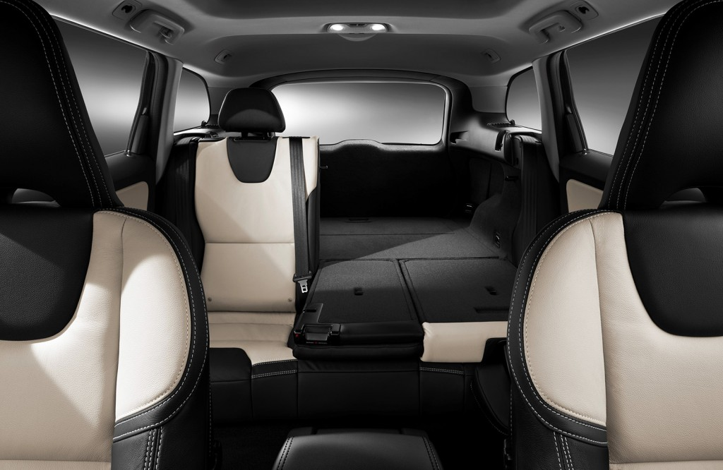 Split-folding rear seats in the XC60 can create a flat loading surface, giving lots of versatility for hauling gear and passengers. It's a two-row crossover with a generous cargo area behind the back seat.