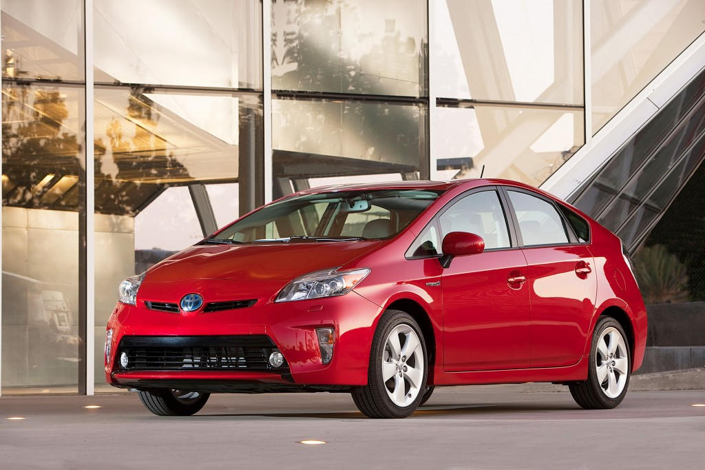 The Toyota Prius is surprisingly spacious for a car that's rated for 51 mpg in city driving.