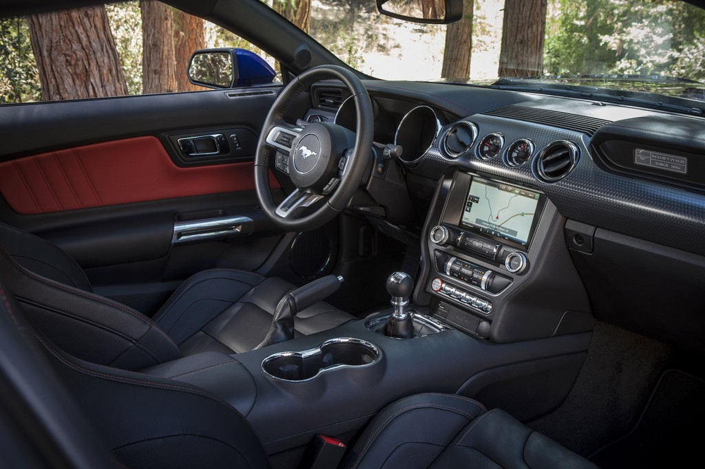 Ford did a good job combining new technology with 1960s throwback styling cues in the 2015 Mustang's interior.
