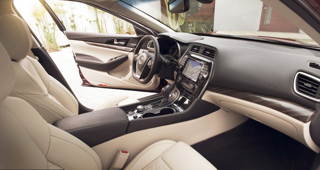 The Maxima's cabin is spectacular, especially in the upscale Platinum trim level.