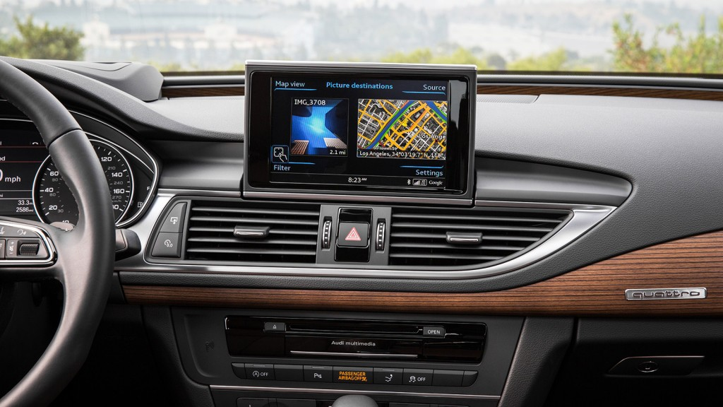 Audi's new-generation digital interface has impressive graphics and a fast response time, no doubt helped by its hardware from computer graphics company NVIDIA.