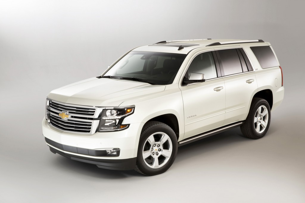 The Chevrolet Tahoe, shown here in upscale LTZ trim, has a completely new design for 2015 that makes it more refined and fuel efficient.