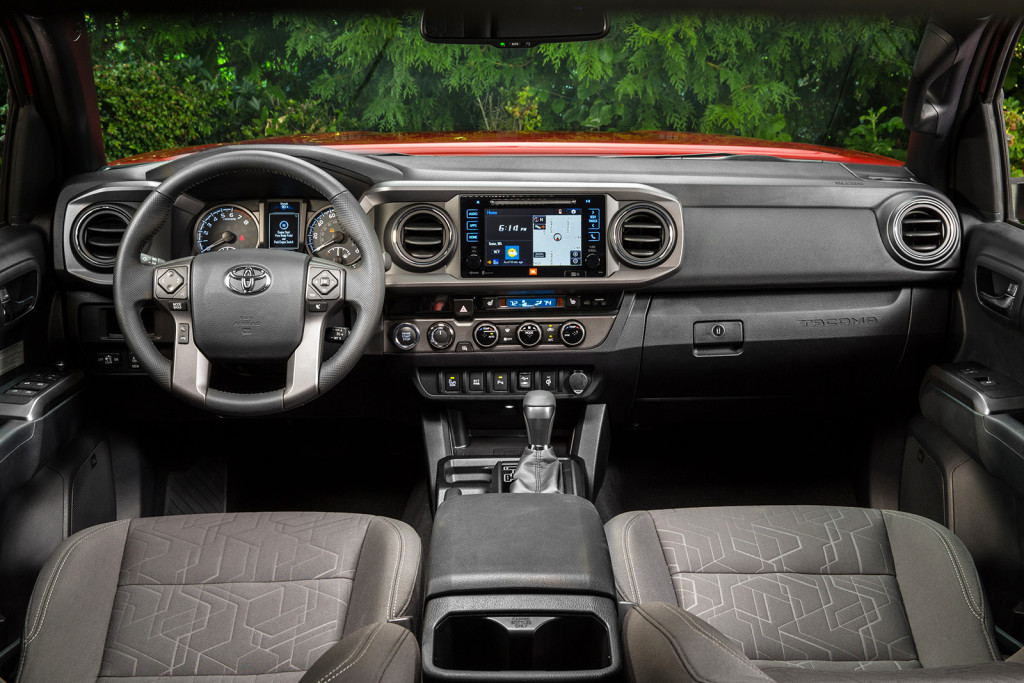 Even a quick drive in the freshly redesigned Tacoma makes one thing obvious: its cabin is dramatically quieter now. Materials and construction are the best you can buy in the mid-size truck class, too.