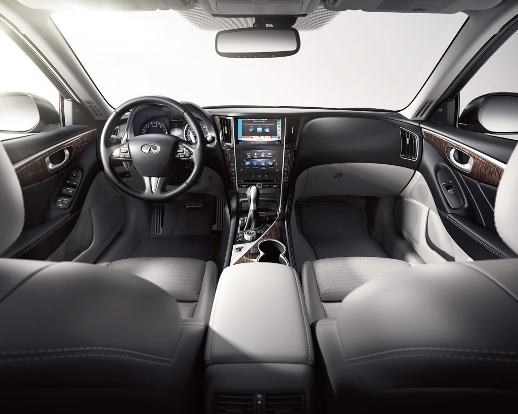 Two digital touchscreens in the Infiniti Q50 help you navigate its many digital features. It helps leave the impression of being one of the most high-tech, cutting-edge cars in its segment.