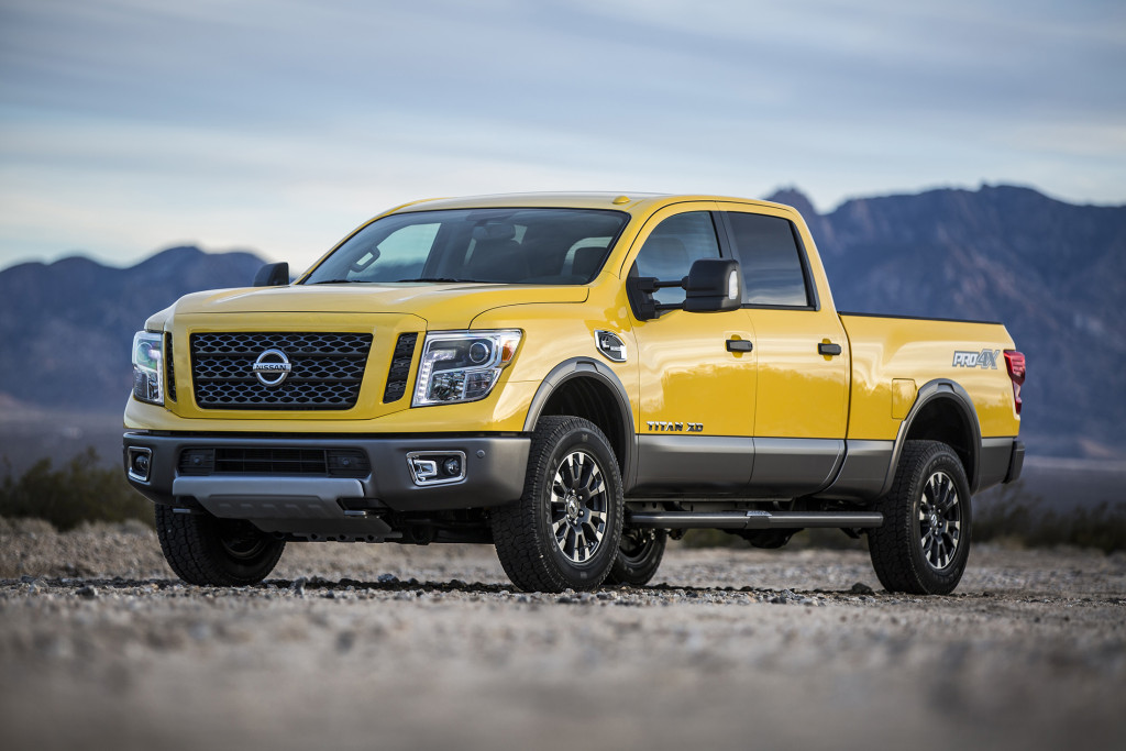 The Nissan Titan XD is the first of several new Titans to hit the market. Powered by a Cummins diesel engine, it is designed to offer more capability than a light-duty truck.