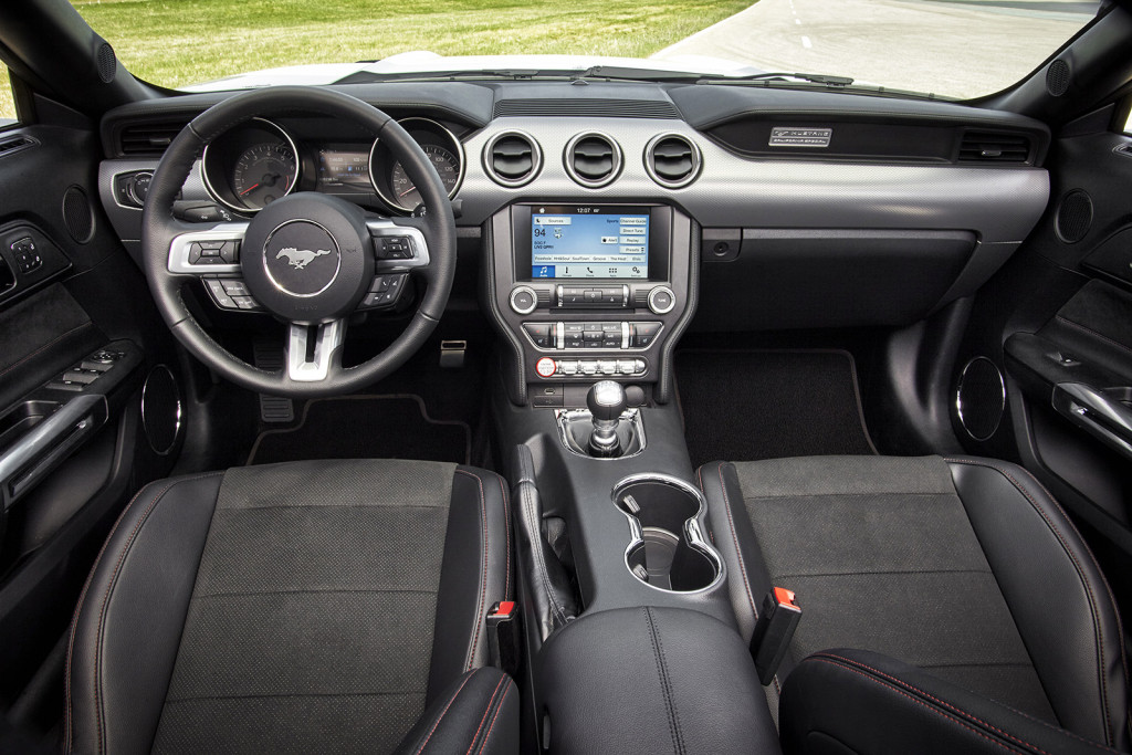 Special trim and badging make the interior of the new California Special package stand out.