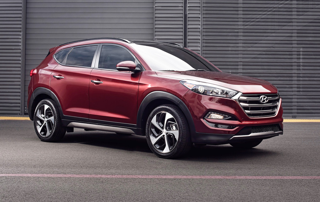 With raked-back headlights and a sleek roofline, the Hyundai Tucson looks sportier than ever after a complete redesign for 2016.