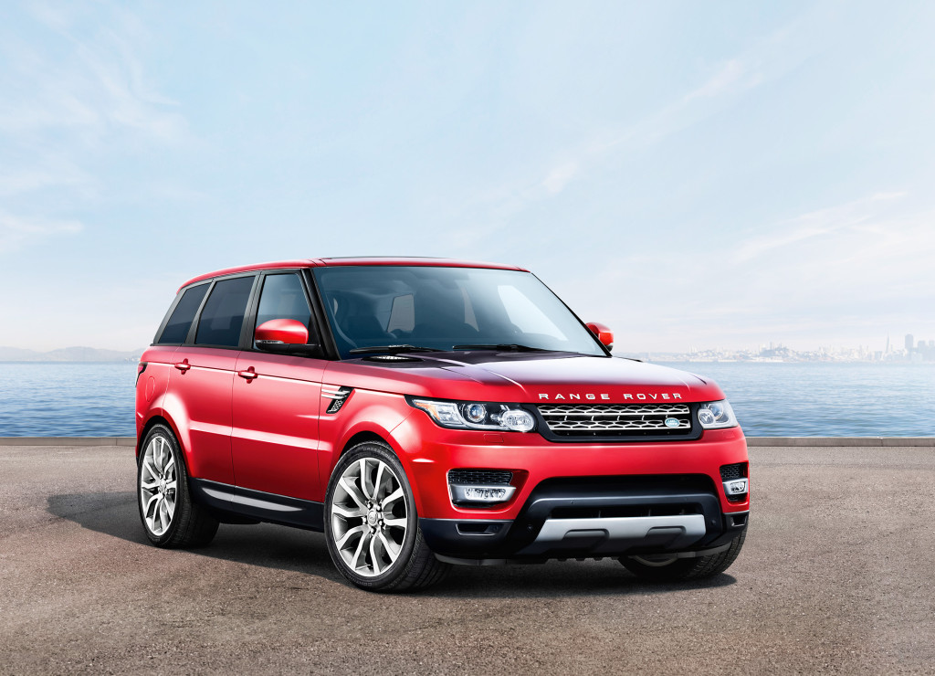 An adjustable air suspension gives the Range Rover Sport a wide range of travel, letting it lower the SUV for highway driving and raise it up for traveling off the pavement.