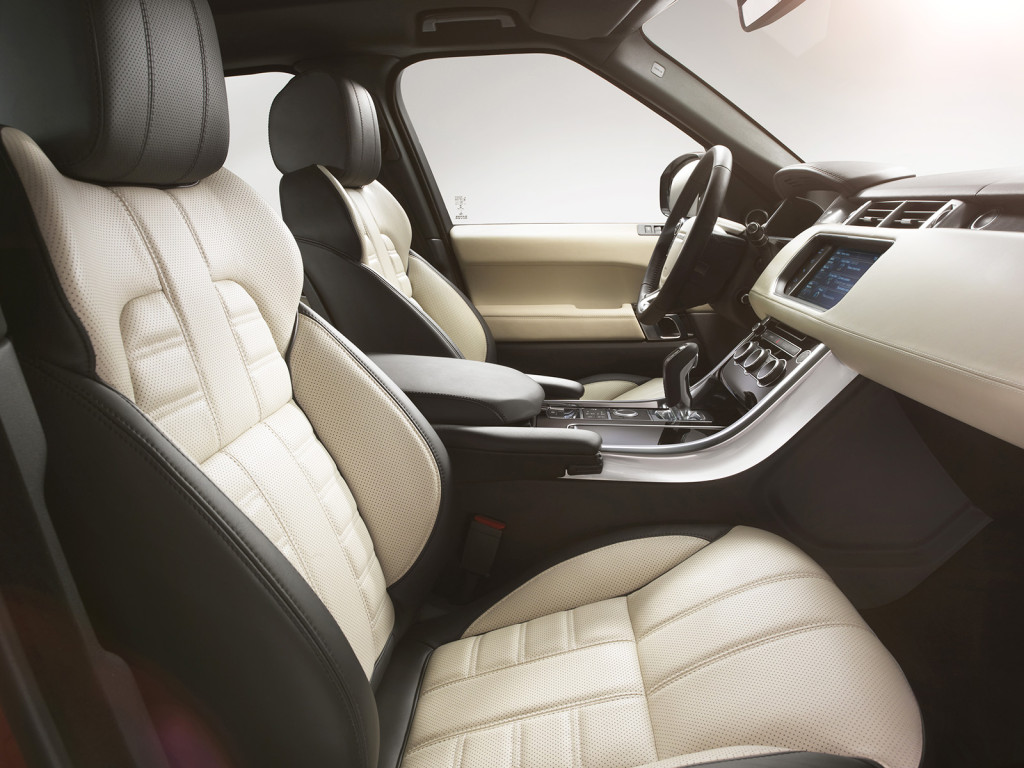 Range Rovers are famous for their leather-covered interiors, and the smaller Sport models are nearly as opulent.