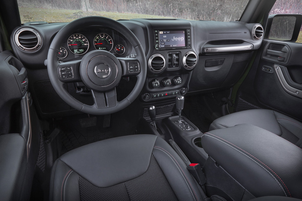 The Wrangler's interior has gotten more modern and quiet in recent years, especially if you buy the optional hard top. And with four doors, the Wrangler Unlimited is surprisingly useful for kid-hauling duties.