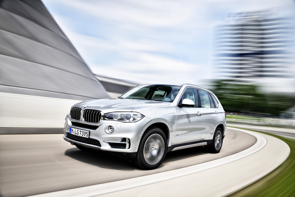The BMW X5 is now available as a plug-in hybrid, called the xDrive40e, that can go up to 14 miles on electric power alone before the gasoline engine is required.
