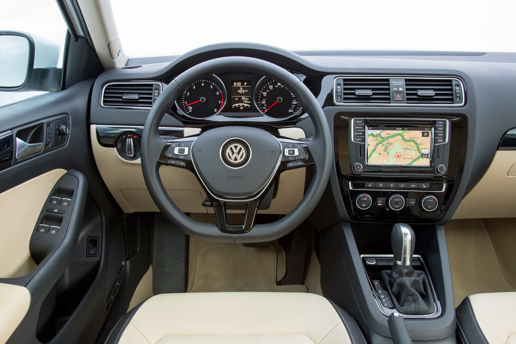 The Jetta's cabin feels roomier than many of its competitors, particularly in the back seat where knee and elbow space are surprisingly generous.