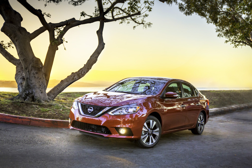 New front styling is the highlight of improvements for the Nissan Sentra in 2016, making it look more like the recently introduced Maxima's design.