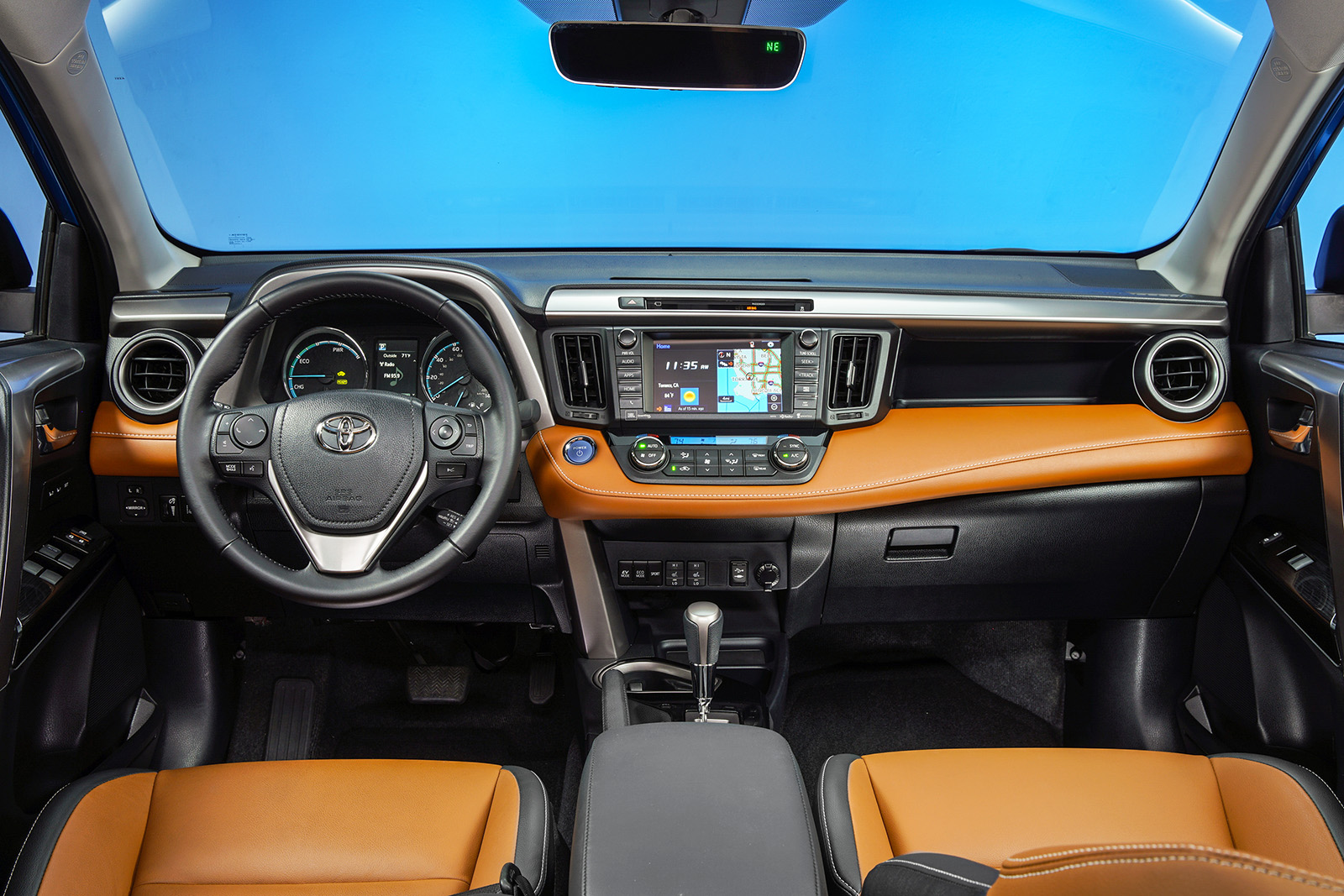 Like many manufacturers, Toyota upgraded the RAV4's cabin with more soft-touch materials this year to keep it competitive in the red-hot family crossover market.