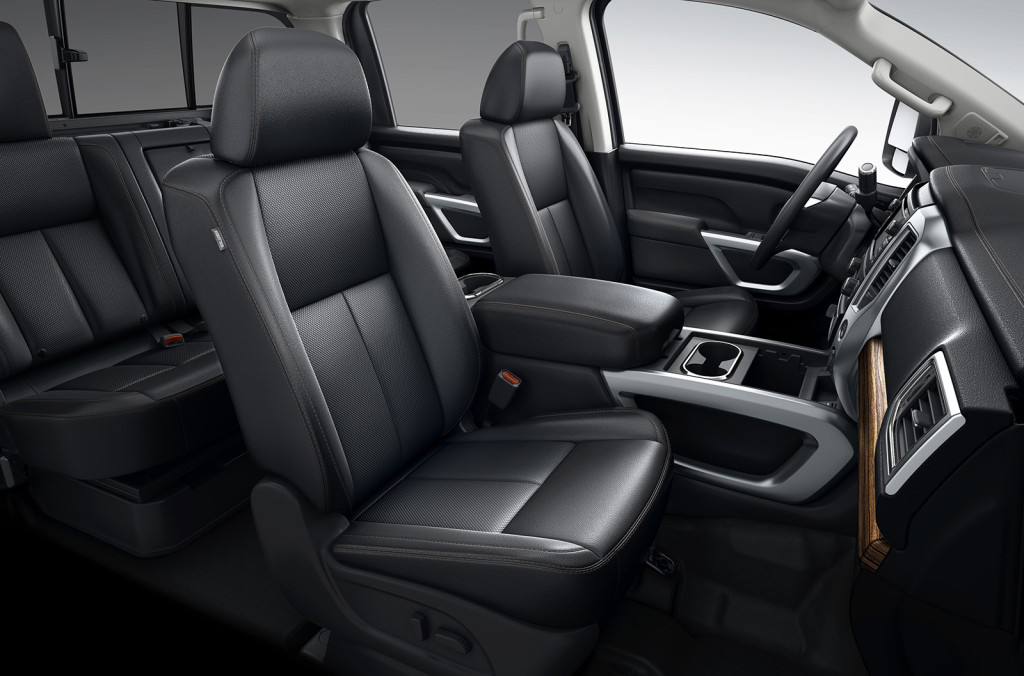 The cabin in the new Nissan trucks is surprisingly refined and quiet, including in the built-for-towing Titan XD, shown here.