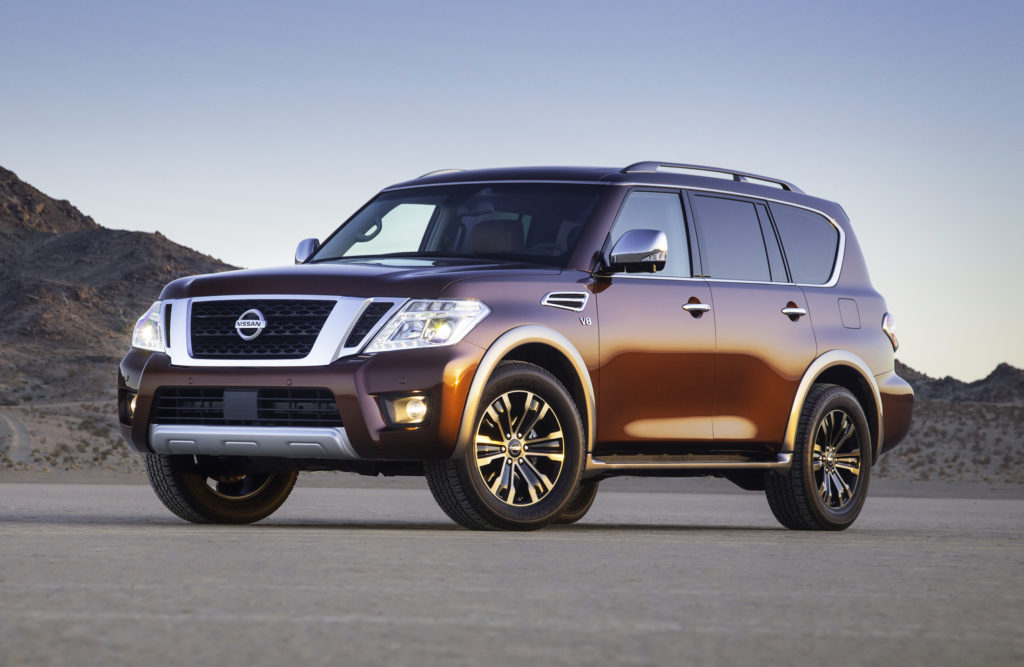 Based on the same architecture as the Infiniti QX80, the new Nissan Armada is a spacious, powerful, off-road-capable SUV that starts around $44,000.