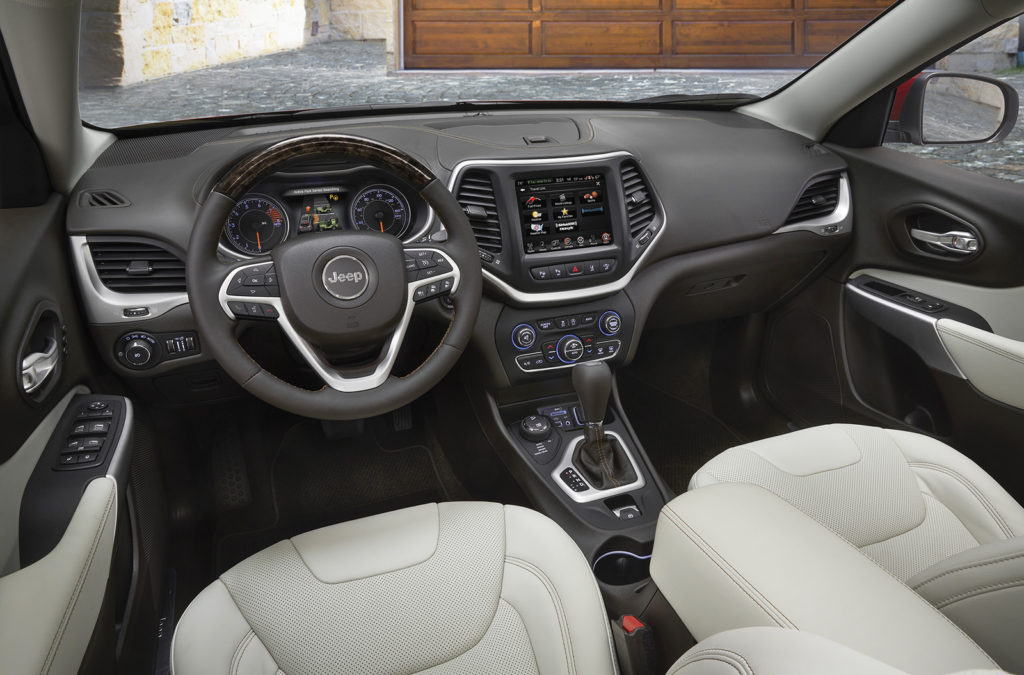 Heated and ventilated Nappa leather seats are part of the Overland package, along with extensive leather trim on the dash and a gorgeous wood steering wheel.
