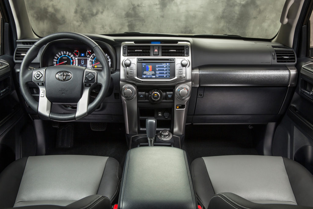 The 4Runner's cabin has a rugged feel, with big controls and roomy seats. It's also impressively refined on the street considering its off-road credentials.