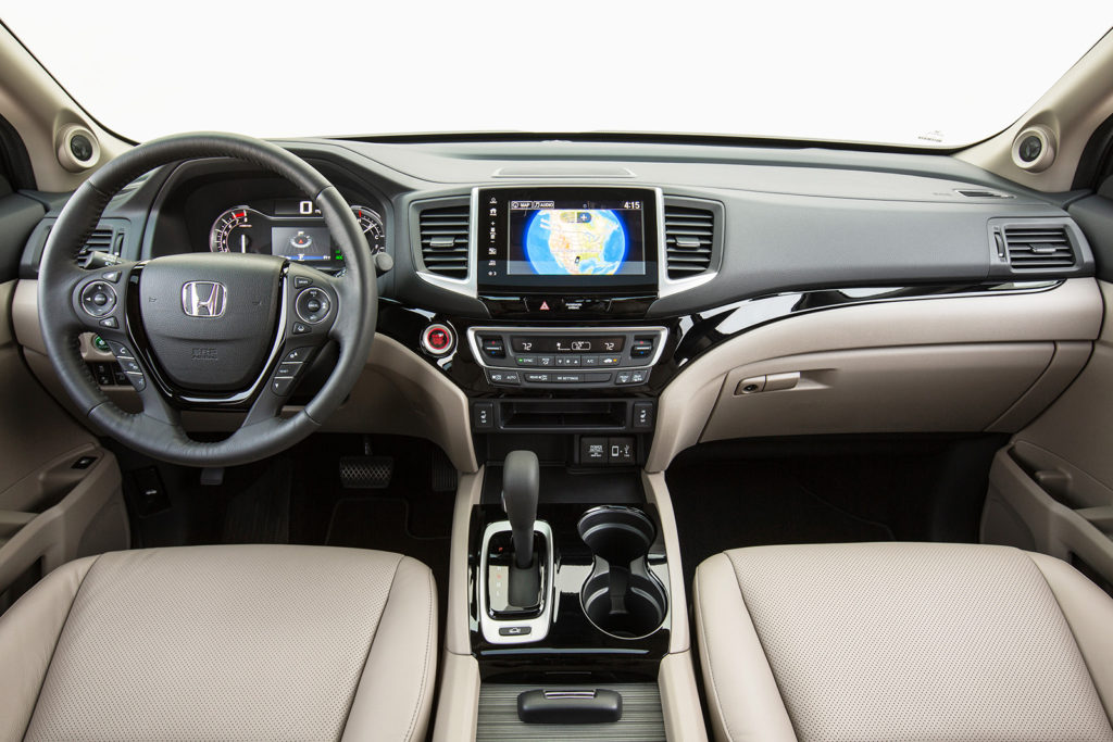 The Ridgeline's refined cabin reflects its car-like driving manners. It's built with tight tolerances and is available with today's best-designed cell phone integrations, Apple CarPlay and Android Auto.