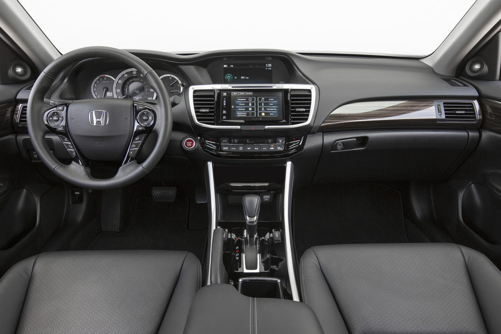 The Accord's well-built cabin now is available with Apple CarPlay and Android Auto smartphone systems.