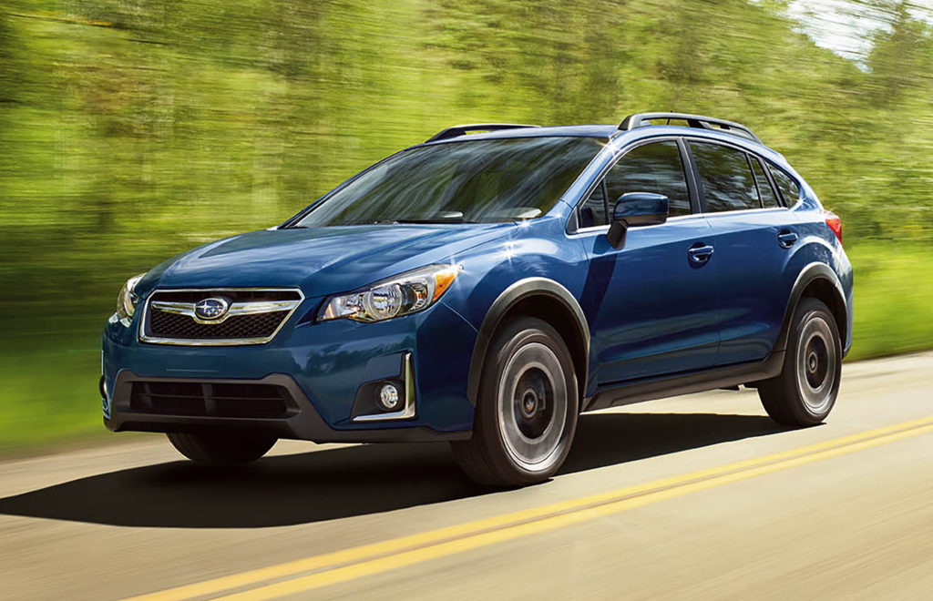 Distinctive moldings around the Crosstrek's wheel arches help provide protection from scratches and dings during off-road driving.