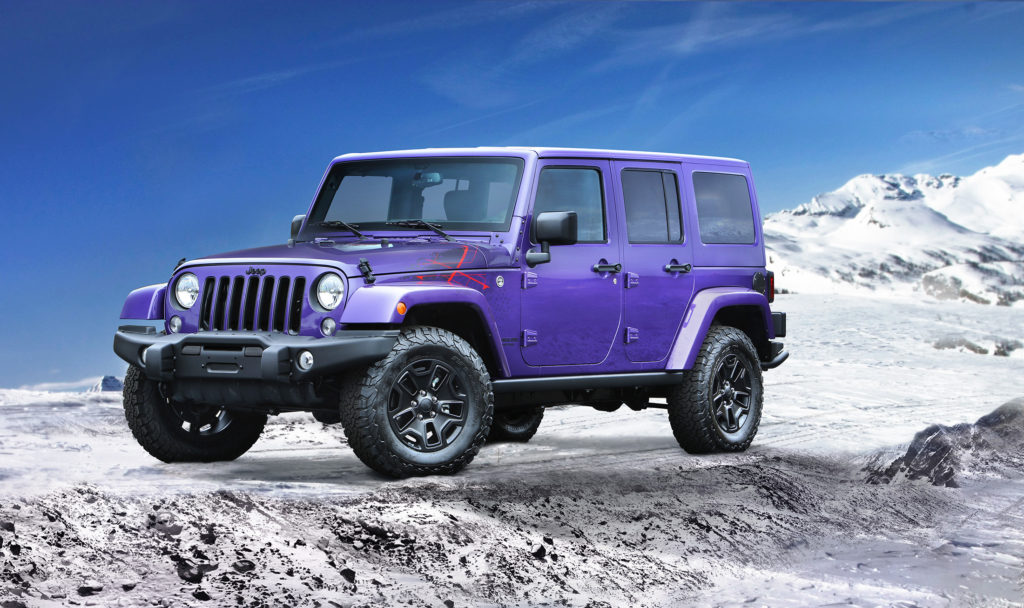 The Wrangler's handsome looks make it unmistakable as a Jeep. Its form-follows-function design, built with intense off-road capability in mind, gives the Wrangler its distinctive shape.