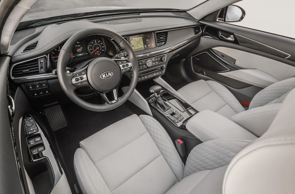 Quilted seating surfaces, tasteful material choices and solid, rattle-free construction help the Kia Cadenza feel more expensive than it is.