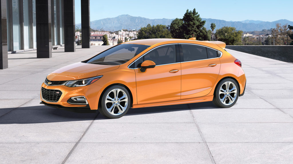The Chevrolet Cruze is now available as a hatchback model that offers 47.2 cubic feet of cargo space.
