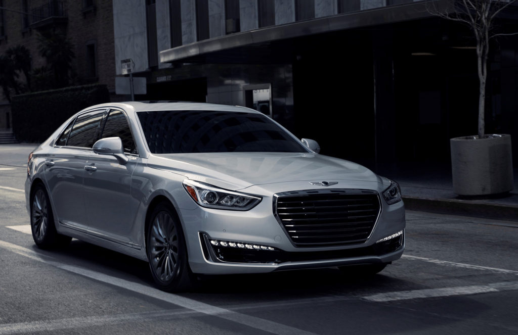 The 2017 Genesis G90 makes a serious, weighty statement at the curb. It's a spacious, well-equipped luxury car that sets the tone for the launch of the Genesis brand this year.