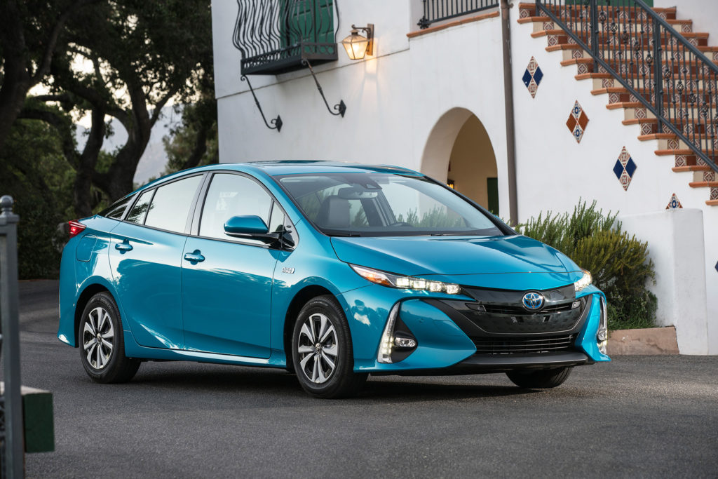 The Prius Prime's futuristic style reflects the radical engineering beneath it. It's an electric car with a 25-mile range, but it also has a highly efficient hybrid gasoline powertrain.